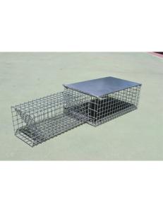jaula trampa para conejos madriguera