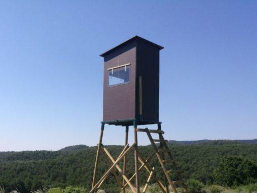caseta para torreta de caza