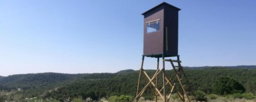 nueva torreta de caza con caseta