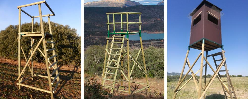 torretas de madera caza y puestos elevados de caza
